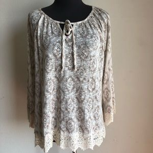 Style & Co. Sz L knitted blouse